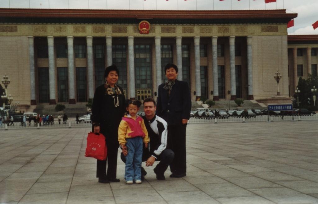 Beijing - Platz des himmlischen Friedens, hinten