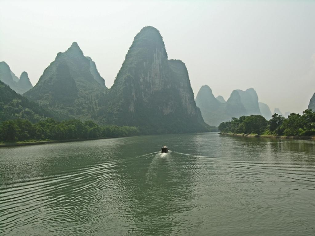 Karstlandschaft am Li Fluss / Guilin - Yangshou