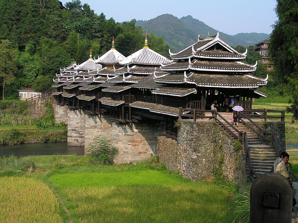 Chengyang / Wind und Regen Brücke der Dong